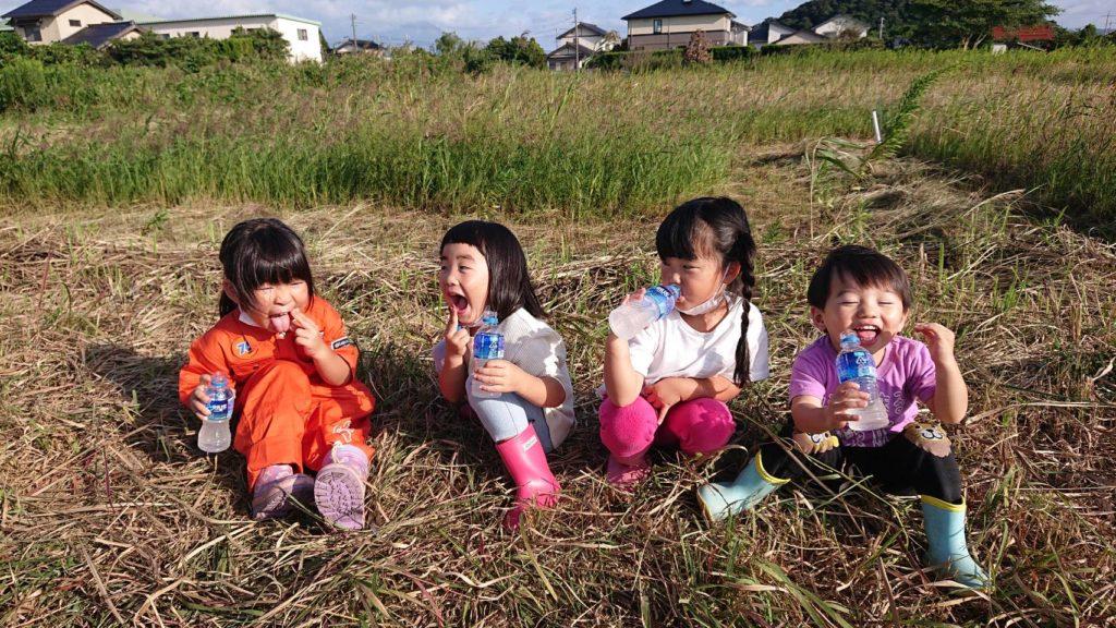 地域の子供たちと芋掘り体験しました!